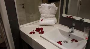 A bathroom at luxury apartment