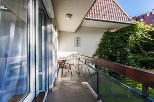 A balcony or terrace at Apartament Sarnia Skała