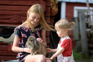 Children staying at Maatilamatkailu Ilomäki
