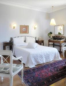 Tempat tidur dalam kamar di Hotel Lancelot