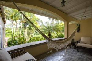 A balcony or terrace at San Ignacio Resort Hotel