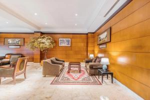 The lobby or reception area at Capital O 534 Sriwijaya Hotel