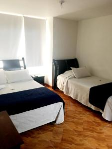 A bed or beds in a room at Hotel Casa Paulina