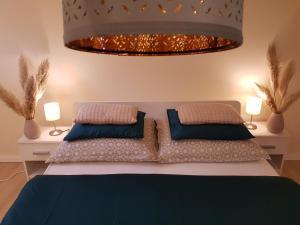 Postelja oz. postelje v sobi nastanitve Apartment Sotočje
