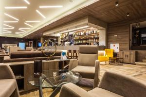The lounge or bar area at Perelik Hotel