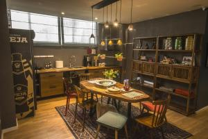 A restaurant or other place to eat at Vanilla Sky Boutique Hostel