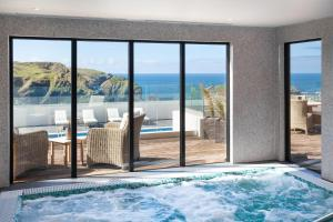 The swimming pool at or near Mullion Cove Hotel & Spa