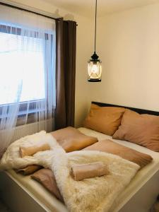 Posteľ alebo postele v izbe v ubytovaní Apartmany Central Liptov