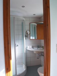 Ένα μπάνιο στο Pegasus Studios and Apartments