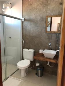A bathroom at Lua Pousada