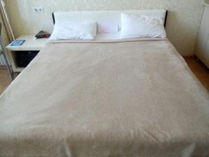 Кровать или кровати в номере Апартаменты Светлана на Курортном