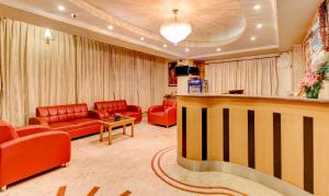 The lobby or reception area at Treebo Trend Terminus