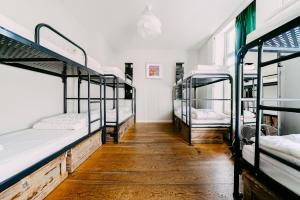 A bunk bed or bunk beds in a room at King Kong Hostel