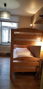 A bunk bed or bunk beds in a room at Hotel The River