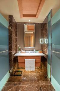 A bathroom at Regnum Carya