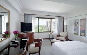 A television and/or entertainment center at The Peninsula Manila (Staycation Approved)