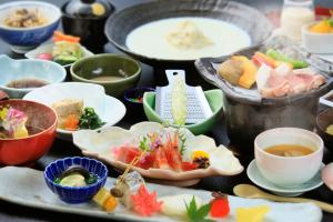 Breakfast options available to guests at Hotel Shikisai