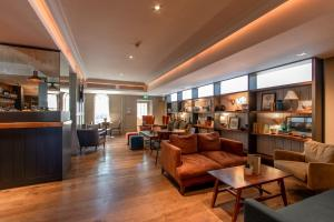 The lounge or bar area at The Raeburn