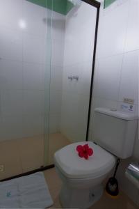 Um banheiro em Pousada Arágua