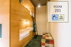 ゲストハウス そら 大阪空堀にある二段ベッド