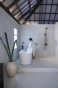A bathroom at Kalinaw Resort