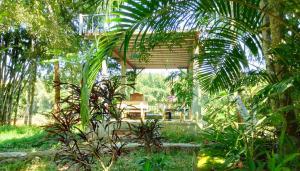 A garden outside Green Hope Lodge