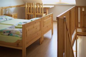 A bunk bed or bunk beds in a room at Turistična kmetija Lovrec