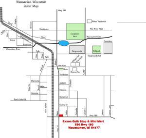 The floor plan of Exxon Quik Stop & Motel