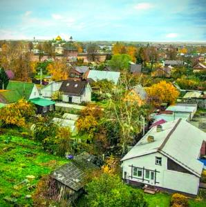 A bird's-eye view of Семейный домик Patchwork