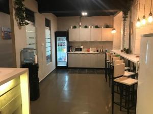 A kitchen or kitchenette at Shelter-Hotels VDNKH