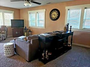 A television and/or entertainment center at 1920s Rock Bungalow