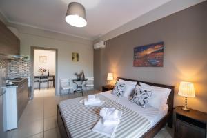 Ένα ή περισσότερα κρεβάτια σε δωμάτιο στο Villa Verde