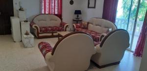 A seating area at Villa Clothilde Carthage