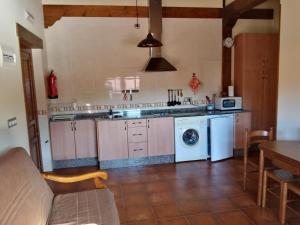 A kitchen or kitchenette at Apartamentos La Regata