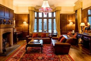 A seating area at Lough Eske Castle
