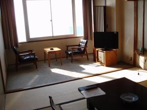 A television and/or entertainment center at Tateyama Yuhikaigan Hotel