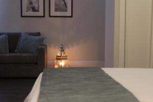 Cama o camas de una habitación en Hotel Bienestar Termas De Vizela