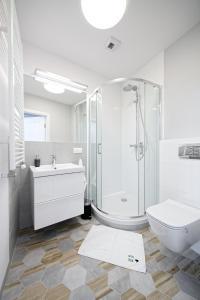 A bathroom at Apple Park