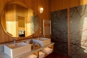 A bathroom at Tierra Chiloe