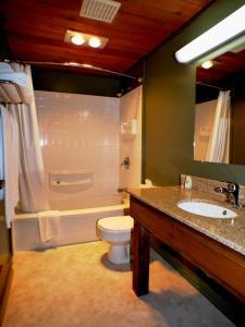 A bathroom at Riverview Lodge