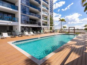 The swimming pool at or near Premium Ocean View Apartment by Serain Residences