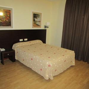 A bed or beds in a room at Hotel Tudanca-Aranda II