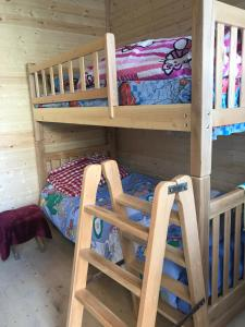 A bunk bed or bunk beds in a room at Marine's Guest House