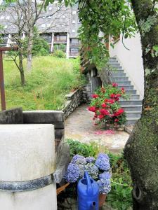 O grădină în afara Apartment Komac