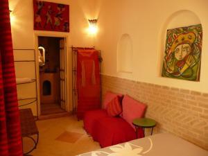 A seating area at Riad Ker Saada