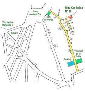 A bird's-eye view of Riad Ker Saada