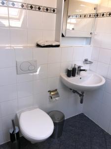 A bathroom at Sunny and modern duplex apartment in Geneva