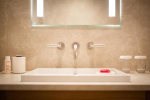 A bathroom at Château Wittem
