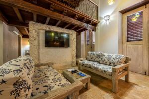A seating area at Apartamento Virrey