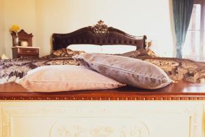 Ein Bett oder Betten in einem Zimmer der Unterkunft amberner Penthouse